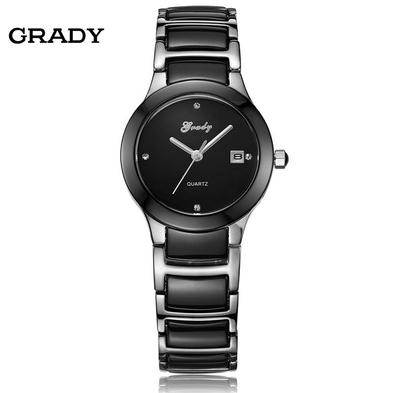 New Watches Women Fashion Luxury Watch Women s Watch Ladies Waterproof Black Ceramic Steel Strap Quartz