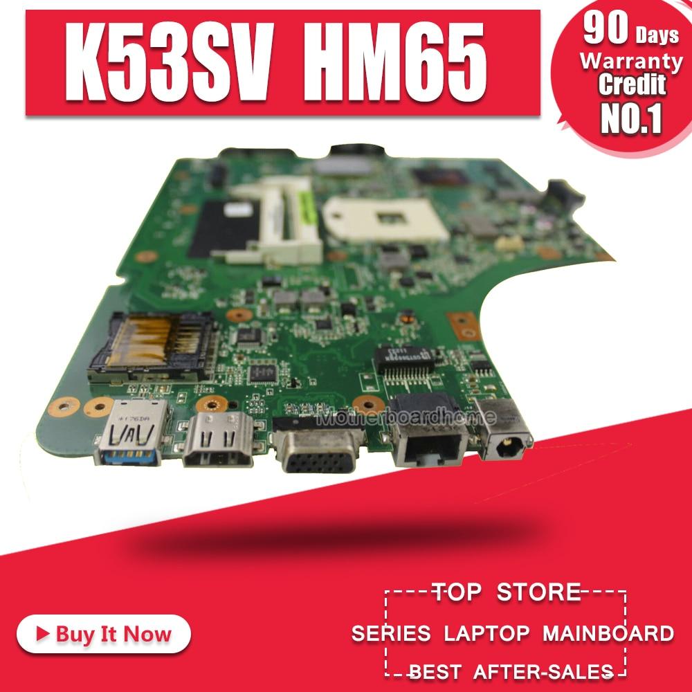 k53sv rev 2.1 bios - K53SV Motherboard REV 3.1/3.0 For ASUS K53S A53S K53SV K53SJ P53SJ X53S laptop Motherboard K53SV Mainboard test 100% ok