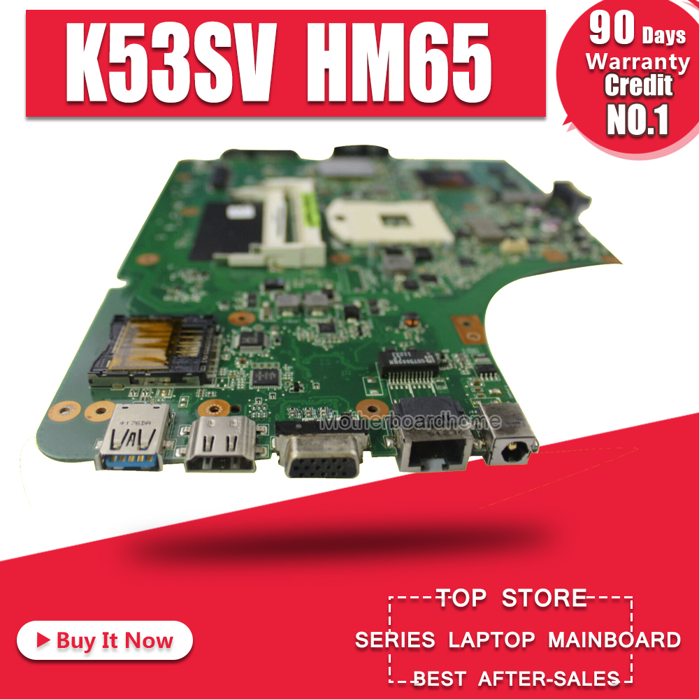K53SV Motherboard REV 3.1/3.0 Para ASUS K53S A53S K53SV K53SJ P53SJ X53S K53SV Mainboard laptop Motherboard teste 100% ok