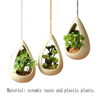 Modern China Mini Garden Decoration Ceramic Vase, Plant Hanging Art Small Vase Home Decoration Accessories Wedding Gifts