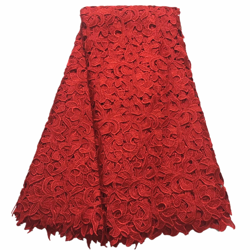 2019 New African Lace Fabric 5 Yard High Quality Guipure Lace Water Soluble Nigerian Lace Fabric For Party