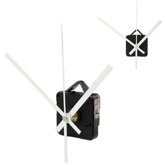 High Quality Quartz Clock Movement Mechanism With Hook DIY Repair Parts + White Hands Dropshipping