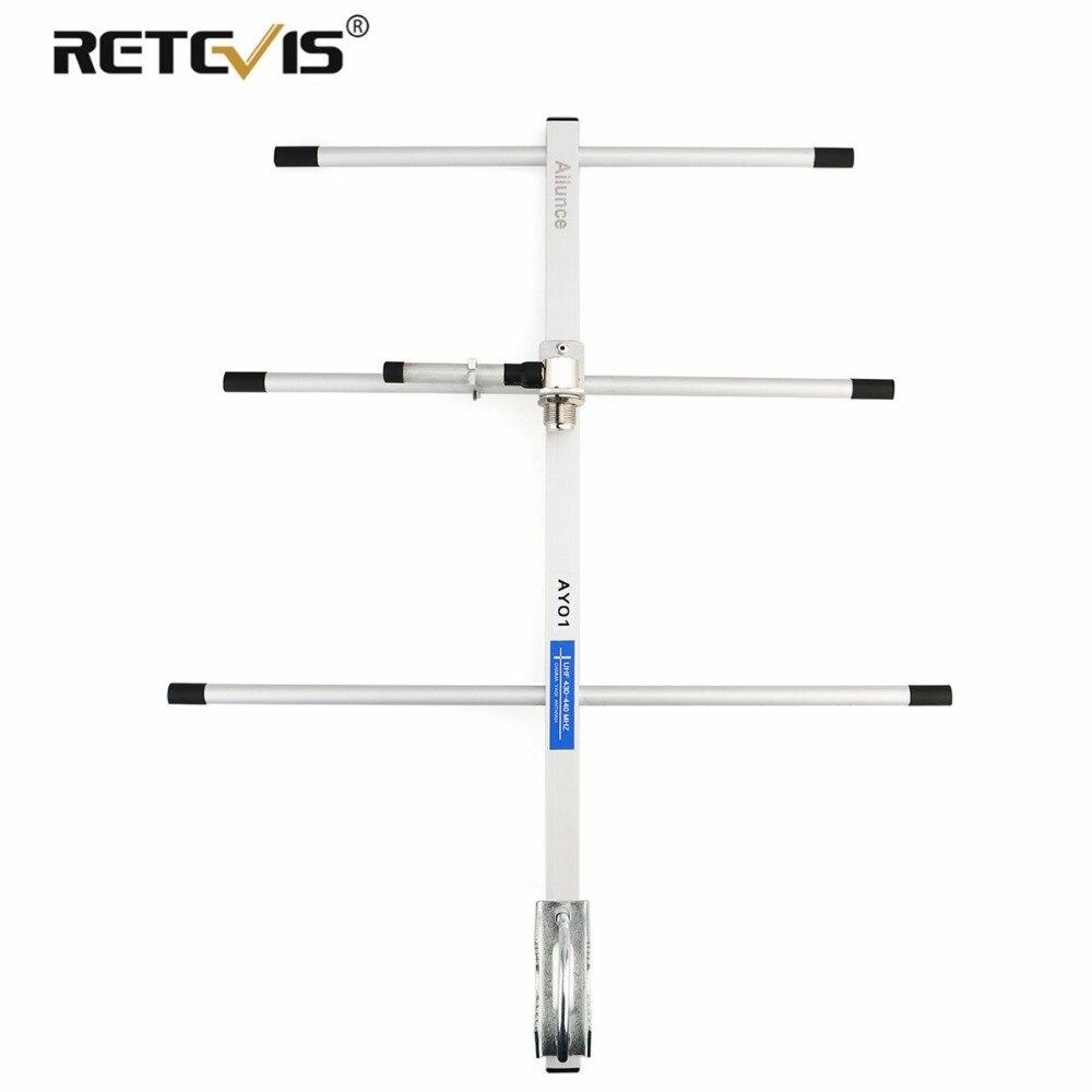 RETEVIS Ailunce AY01 High Gain Aluminum Alloy Yagi Antenna UHF 430 440MHz Female Connector For Baofeng UV 5R/UV 82 Walkie Talkie
