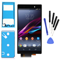 Black For Sony Xperia Z1 L39H L39 C6902 C6903 C6906 c6902 c6903 LCD display touch screen digitizer full assembly+tools+adhesive