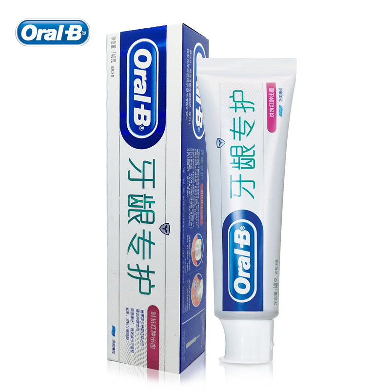 Oral B Toothpastes Fight Gum Swelling & Bleeding Repairing Reduce Plaque Oral Hygiene Dental Care Tooth Pastes 140g*1pc  new personal care led oral teeth clean tool kits dental hygeine explorer dental mirror plaque remove tooth stain eraser