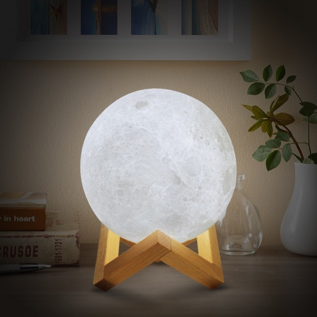 Luminous Moon Changing Color Wireless LED Lamp