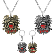 Queen Keychain Punk Jewelry Pendant Metal Necklace Fans Car-Bag Choker Rock-Band Chaveio
