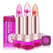 2017 Temperature Change Color Lip Balm 3 Color Waterproof Long-lasting Sweet Transparent Jelly Flower Pink Moisturizer Lipstick