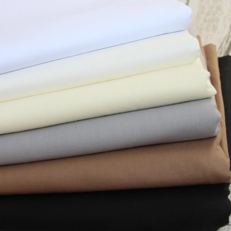160cm * 50cm algodão cor sólida branco cinza brwon pano preto diy para almofadas de cama artesanal patchwork quilting artesanato de decoração