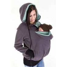 3in1 Maternity Multifunctional Kangaroo Hoodie jacket for MOM and Baby, Baby Carrying Hoodie fllece jacket is made for carrying