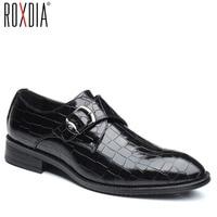 ROXDIA/большие размеры 39-48; мужские свадебные туфли из микрофибры в деловом стиле; Мужские модельные туфли; мужские оксфорды на плоской подошве...