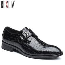 ROXDIA plus size 39-48 microfiber leather formal business men wedding shoes for male dress shoes men's oxford flats RXM092