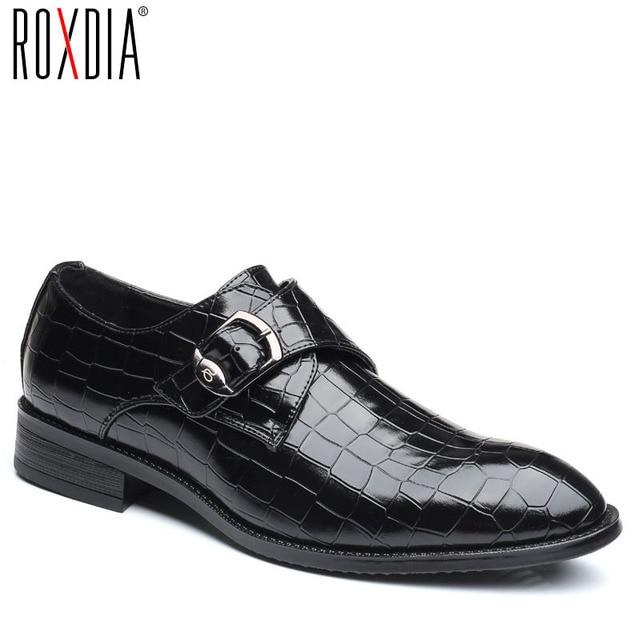 6ecbb6632bdb ROXDIA plus size 39-48 microfiber leather formal business men wedding shoes  for male dress shoes men s oxford flats RXM092