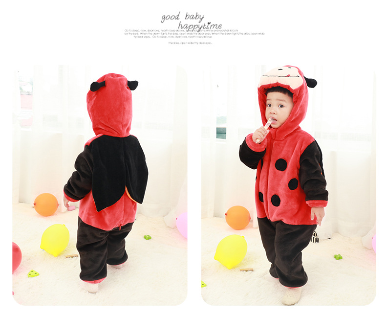 HTB1l4XId3mH3KVjSZKzq6z2OXXaU 2019 Infant Romper Baby Boys Girls Jumpsuit New born Bebe Clothing Hooded Toddler Baby Clothes Cute Panda Romper Baby Costumes