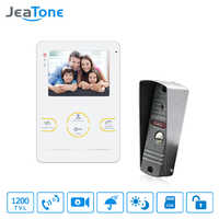 JeaTone HD Electronic doorman with Camera Doorbell Video Doorphone Intercom System 4 Inch Acrylic Piano Lacquer Shell Doorbell