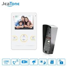 цена на JeaTone HD Camera Doorbell Video Doorphone Intercom System  4  Inch 1200TVL White Color Video  Intercom