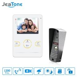 JeaTone HD Electronic doorman with Camera Doorbell Video Doorphone Intercom System 4 Inch Acrylic Piano Lacquer Shell Doorbell