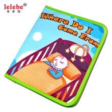 Juguetes ベベが私はから来ベビーパズルのおもちゃ布の本子供のおもちゃ lelebe
