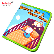 juguetes bebe Where do  I come from  baby Puzzle toy cloth book Childrens toys lelebe