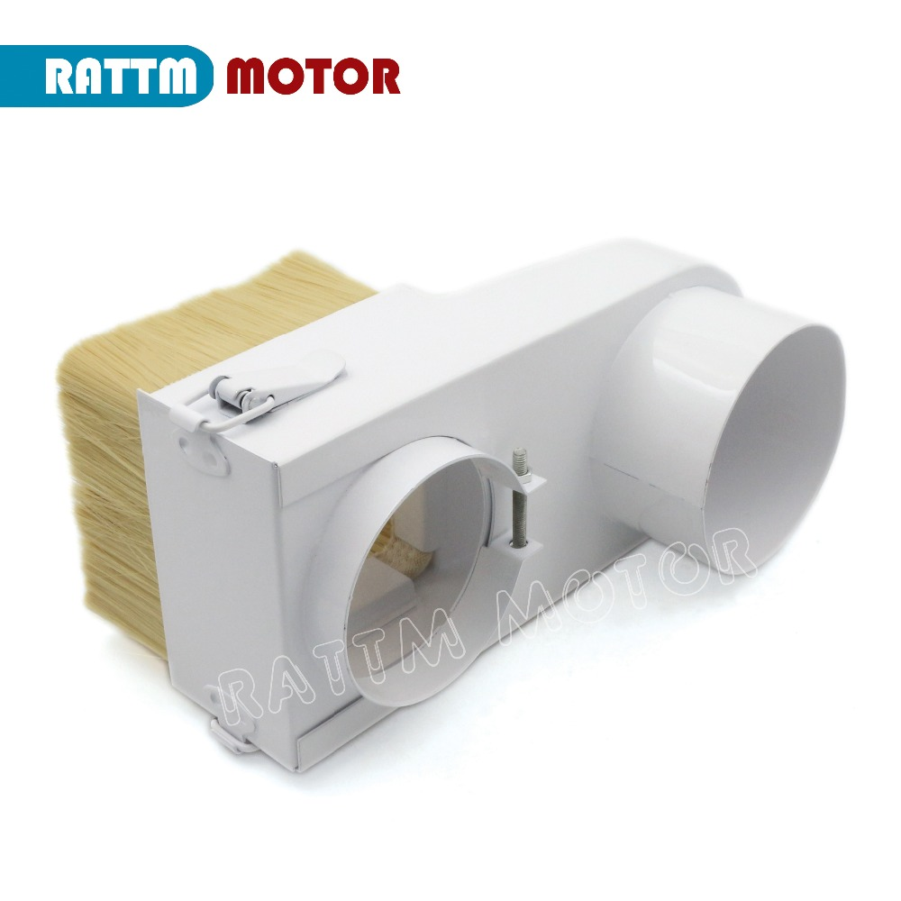 цена на 80mm Spindle motor dust cover Vacuum Cleaner Dust Shoe for CNC Router engraver