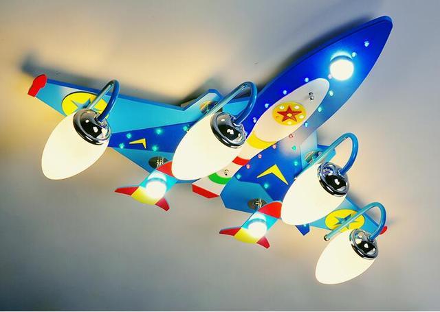 Blauwe Slaapkamer Lamp : Nieuwe vliegtuig led plafondlamp lamp verlichting kid jongen droom