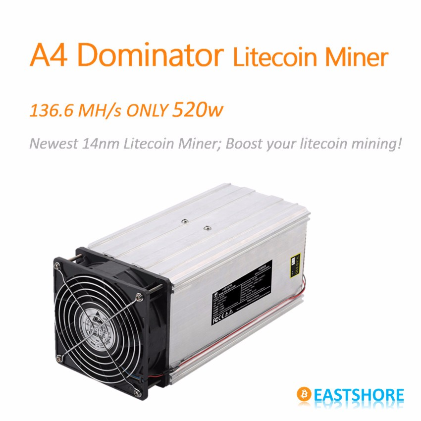 A4 dominator litecoin miner 136MH with 520w