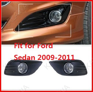 ФОТО one pair Dedicated 55W LED fog light led chip Fog lamp fit for Ford sedan 2009-2011 with wireset FD353 Free shipping TTT