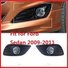 Одна пара Выделенный 55 Вт СВЕТОДИОДНЫЕ противотуманные фары привело чип противотуманная фара, подходит для Ford Focus седан 2009-2011 с wireset FD353 Бесплатная доставка ТТТ