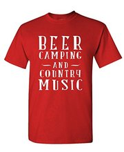 BEER CAMPING & COUNTRY MUSIC -men's t-shirt