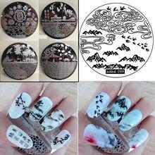 Nueva plancha para arte de uñas sello kit con 108 diseños de pegatinas de plantillas plancha para arte de uñas polaco de placas de esténciles para uñas sello