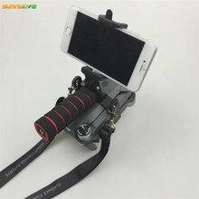 Sunnylife Portable Handheld Gimbal Stabilizer Phone Holder Clip Handle Bracket with Hang Strap for DJI Mavic PRO Refitting