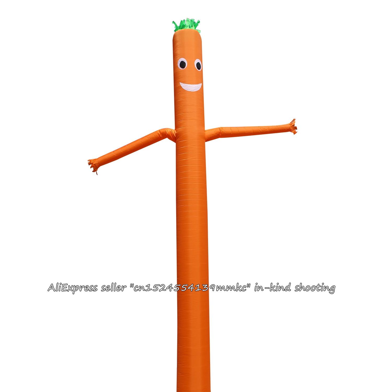 Air Danseur Ciel Danseur Gonflable Tube Ciel Marionnette Homme Marionnette 20FT 6 m pour 45 cm Ventilateur (Orange)