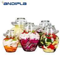 Transparent Glass Pickle Bottles Night Stains Pickled Vegetable Cabbage Sealed Container Household Food Storage Jars Sealed Tank