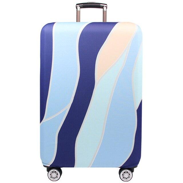 HMUNII карта мира, дизайнерский защитный чехол для багажа, Дорожный Чехол для чемодана, эластичные пылезащитные Чехлы для 18-32 дюймов, аксессуары для путешествий - Цвет: B-Luggage cover