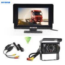 DIYSECUR Wireless 4.3inch Car Monitor + Waterproof Rear View Backup Camera Parking Assistance for Trucks Caravans Bus Motorhome