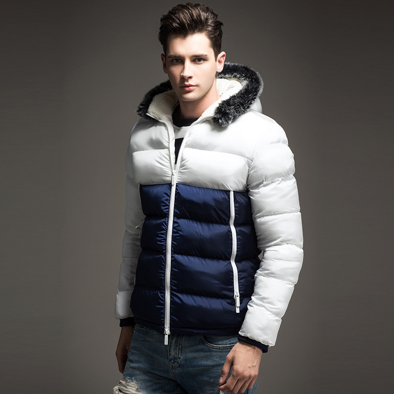 Bumpybeast Autumn Winter Jacket Men 2018 Patchwork Thick Hooded men's Jackets warm   Parka   Male Slim Coat Asia size M-3XL MY6792