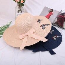 2019 Novo Chapéu de Palha feminino verão pequeno fresco chapéu grande sol  dobrável chapéu de praia protetor solar sombrinha chap. 3aabf4fda8b