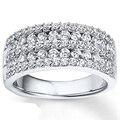 EDICIÓN de lujo Edison Moissanites Laboratorio Crecido Diamantes Anillo Aniversario de Boda de Los Hombres 14 K 585 Oro Blanco Banda de San Valentín Navidad