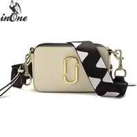 INONE Luxury Bags for Women 2019 Vegan PU Leather Crossbody Messenger Shoulder Bag with Two Straps Clip Shape Hardware Decor