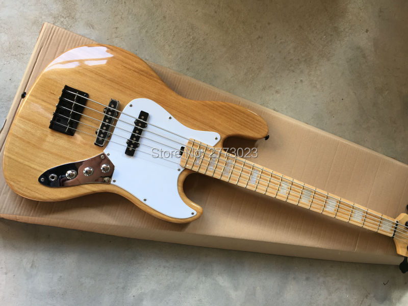 high quality 5 strings electric bass eim guitar the original wood color all color are available. Black Bedroom Furniture Sets. Home Design Ideas