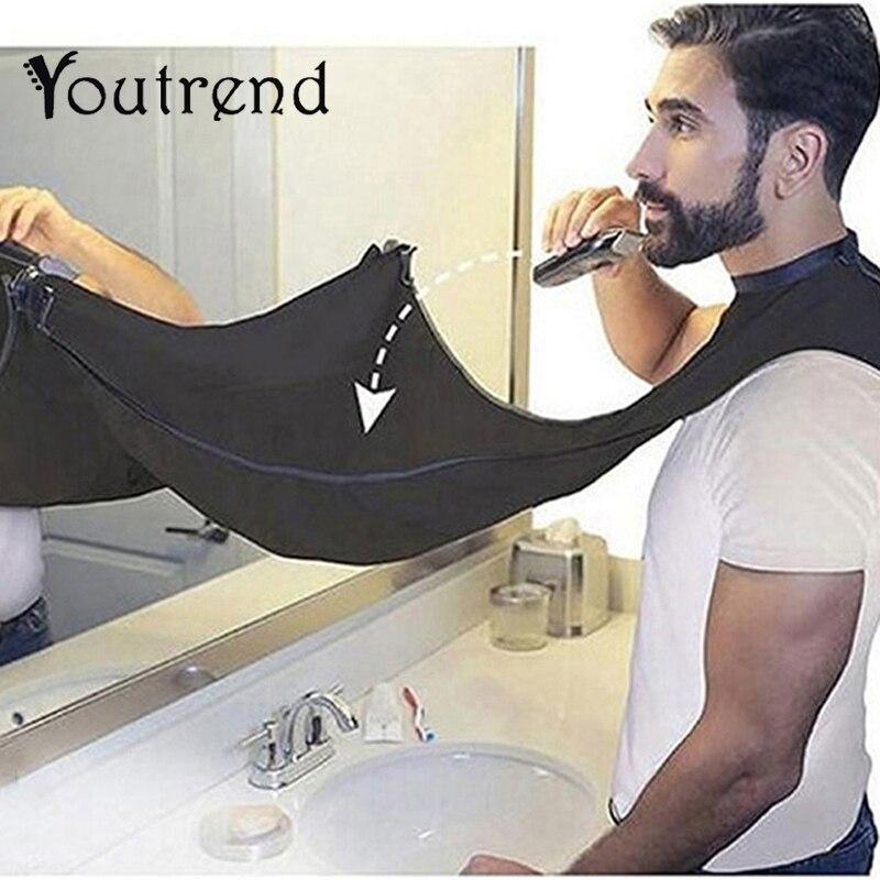 Pongee-delantal de afeitarse para el cuidado de la barba, Culote, capa para pelo, fregadero, herramienta de limpieza, blanco y negro, protección de limpieza del hogar
