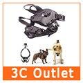 Gopro perro fetch arnés ajustable correa del pecho cinturón mount para gopro hero 4/3 +/3/2/sjcam acción cámara
