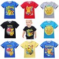 2016 nuevos niños de la camiseta pokemon ir camisa niñas niños tops camisas de la camiseta chico camiseta para chico camiseta ropa ropa traje