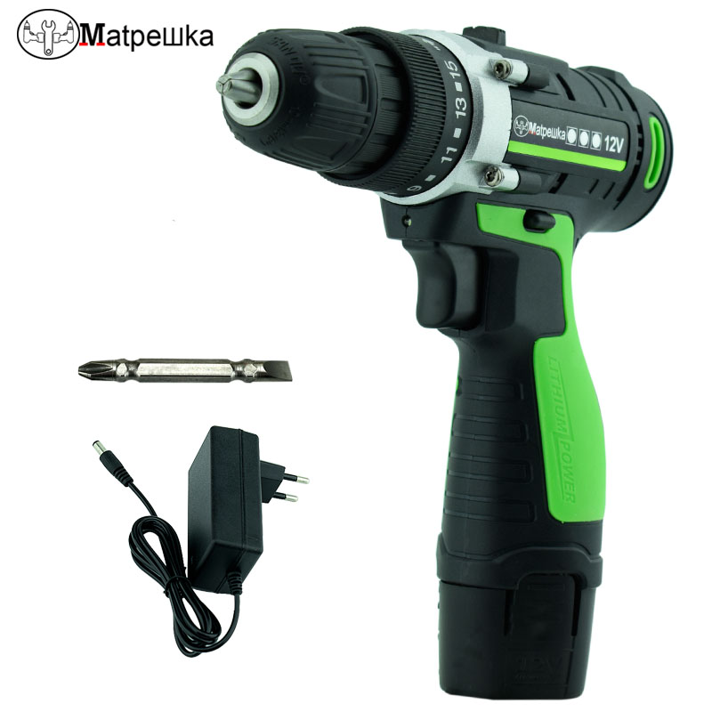 цена на 12V Electric Screwdriver Lithium Battery Rechargeable Parafusadeira Furadeira Multi-function Two Speeds Torque Electric Drill
