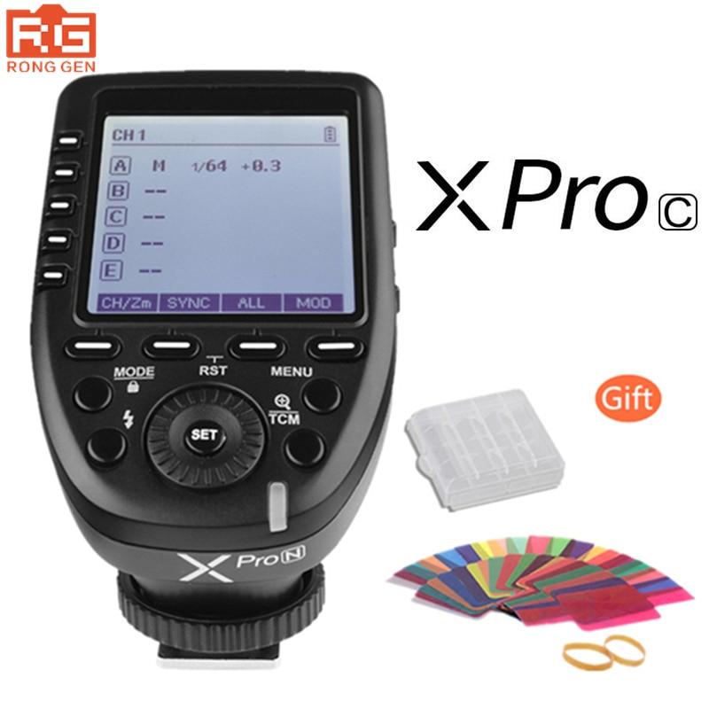 In Stock Godox XPro-C 2.4G Wireless X-System E-TTL II HSS Flash Trigger Transmitter LCD Screen for Canon DSLR Camera pre sale godox xpro c xpro c transmitter trigger for flash support e ttl ii auto for canon camera
