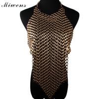 Miwens Facebook Hot Search Vintage Alloy Hollow Tassel Statement Necklace Fashion Big Maxi Long Pendant Women Necklace 6910