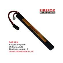 1 PCS 100% orgina L Firefox 11.1 В 1200 мАч 20C Li Po AEG Airsoft Батарея L F4R12M