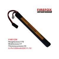 1pcs 100% Orginal FireFox 11.1V 1200mAh 20C Li Po AEG Airsoft Battery L F4R12M