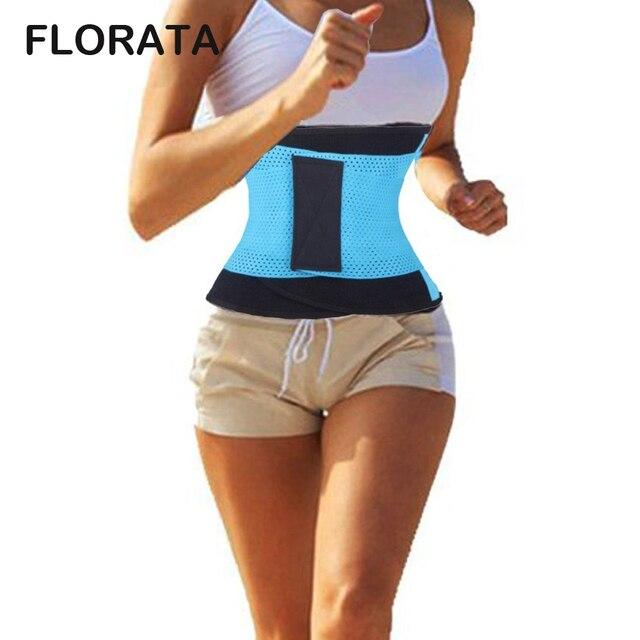 FLORATA Waist Trainer Cincher Man Women Xtreme Thermo Power Hot Body  Shaper Girdle Belt Underbust Control Corset