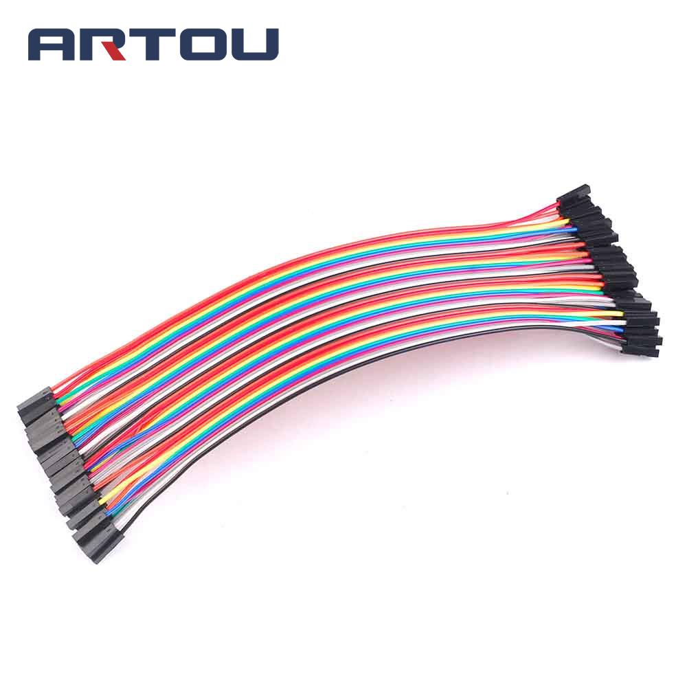 80pcs= 2 Raw X 40pcs Female To Female Dupont Wire Cable Line 1p-1p Pin Connector 20cm 2.54mm